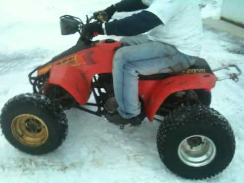 LS 230 Suzuki Quadsport with twist throttle test run