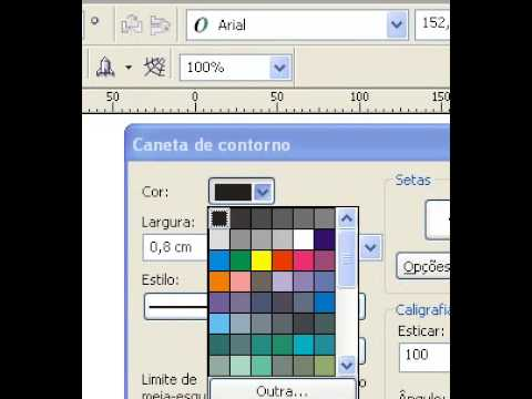 Video Aula Corel Draw X3 Como Fazer Contorno E Texto 3D