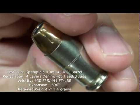 Hog's Head Ballistics - Federal HST .45 ACP 230gr+P