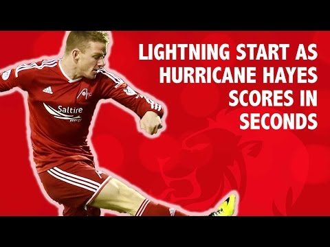 Lightning start as Hurricane Hayes scores in seconds