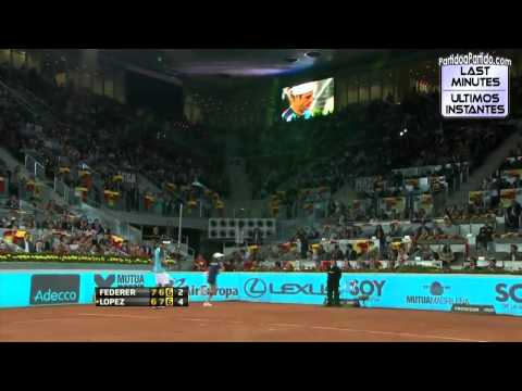 [HD] Feliciano López vs Roger Federer R2 MADRID 2011 [Last Minutes]