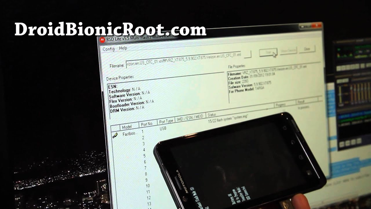 How to Unroot/Unbrick Droid Bionic Back to Software Version 5.9.902