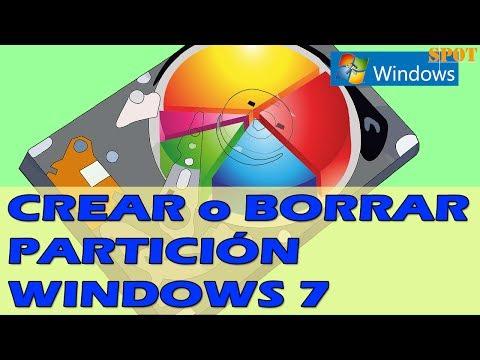 Crear o borrar una partición del disco duro en Windows 7