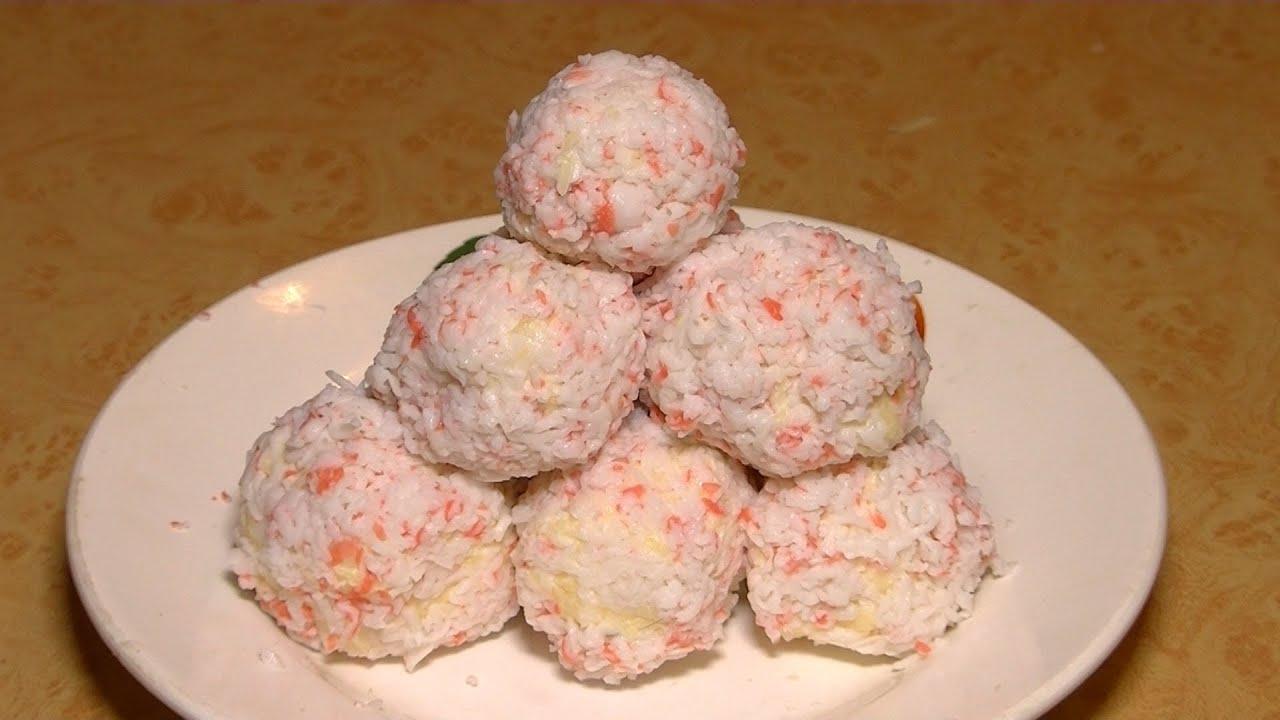 Рафаэлки из крабовых палочек пошаговый рецепт