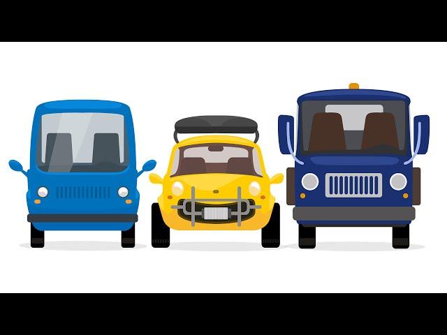 Машинки и автосервис: мультик Доктор Машинкова: Грузовик, пикап и желтая машинка едут на пикник