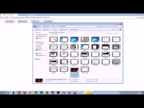 Menu déroulant (scroll menu) HTML / CSS / Javascript
