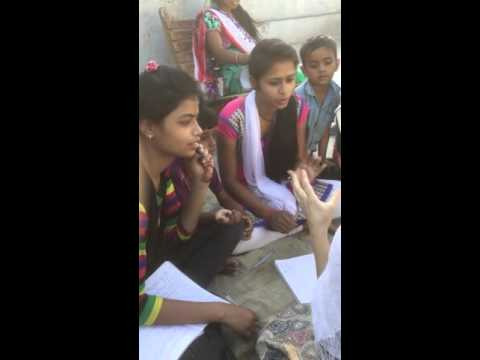 Rishikesh Slum school Girls learning Russian language