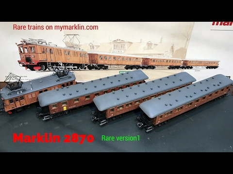 Unpacked Marklin trains 2870 version 1   RARE !