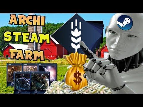 Archi Steam Farm Updated Guide || Steam Trading Card Farming [$]