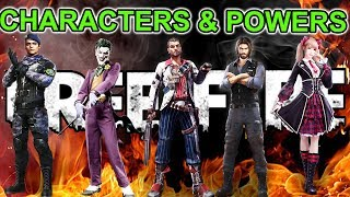 Free fire all characters power tricks in tamil
