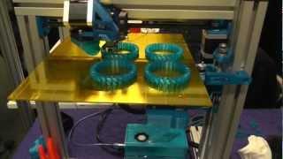 3D printen meerdere armbanden Rapid Pro 2013 ( 3D printer printing printed jewelry )
