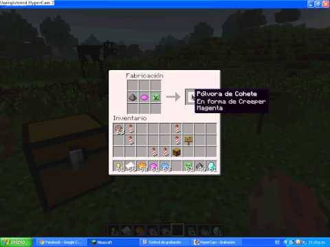 Como hacer cohetes en minecraft (formas y color)