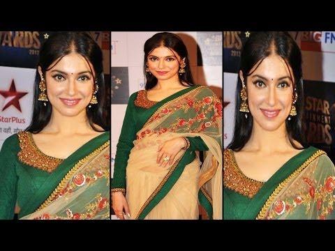 Cute & Sexy Divya Khosla Kumar In Hot Trancy Saree & Blouse