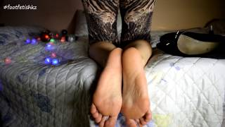 Feet soles girl. Happy New Year! fullHD (65)