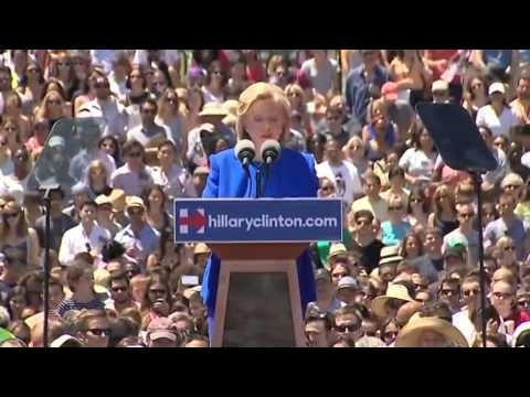 Hillary Clinton's first campaign rally     02:35