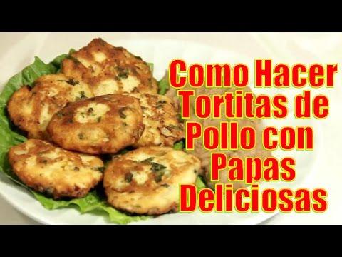 Tortitas de Pollo con Papas Deliciosas - Recetas en Casayfamiliatv