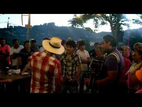 Pedro Cachadinha, Pedro Mendes e Henrique de Lindoso, nos cantares ao desafio em Fareja