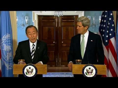 Secretary Kerry Delivers Remarks With UN Secretary General Ban Ki-moon