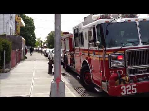 FIRE - FDNY ENGINE 307, 292, 289, 325, NEW LADDER 154, 136, TOWER LADDER 138, 163, 117, SQUAD 288