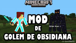 Golem de obsidiana mod | Minecraft pocket edition 0.9.5 alpha