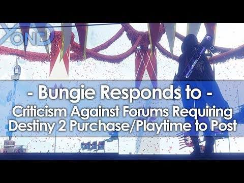 Bungie Responds to Criticism Against Forums Requiring Destiny 2 Purchase/Playtime to Post