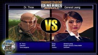 C&C Generals Zero Hour Challenge Toxin 07: Dr. Thrax x Gen. Leang [HARD]