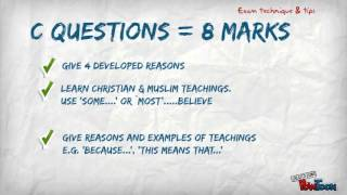 GCSE Religious Studies Edexcel Exam Tips