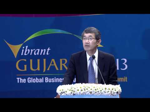 Hidehiro Yokoo's speech during inaugural ceremony of Vibrant Gujarat Global Summit 2013