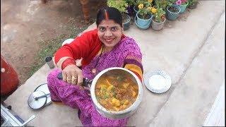 यूपी स्टाइल मूँग के बड़ी की सब्जी बनाने का तरीका। Authentic Village Style Badi Sabji Recipe