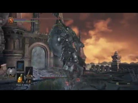 Dark Souls 3 Boss Armadura Del Asesino De Dragones (Dragonslayer Armour) Gameplay PC Guía