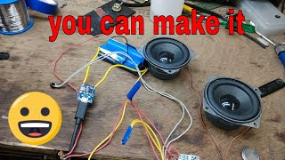 diy home made portable Bluetooth audio/ speaker project for my sudents