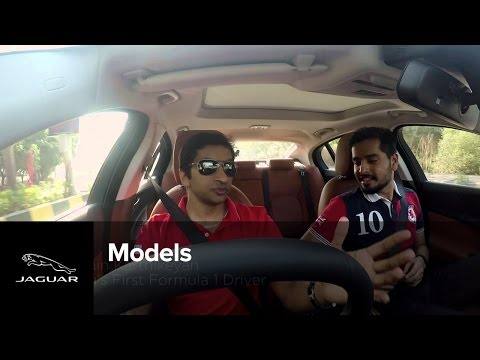 Aahan Sethi's driving experience with Narain Karthikeyan in the All-New Jaguar XE
