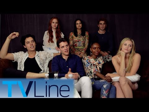 """The cast of """"Riverdale"""" previews Season 2 with Andy Swift at Comic-Con 2017, and wonders if Sabrina would fit into the show. � http://bit.ly/TVLineSubscribe http://tvline.com Follow Us..."""