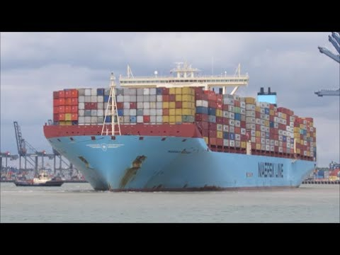 Ultra large Maribo Maersk departs for Malaysia  14th July 2017