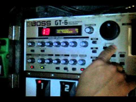 Boss GT6 Harmonizer function (excelente truco armonizador)