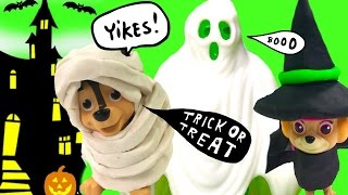 Paw Patrol Trick or Treating! Scary Ghost, Toys &