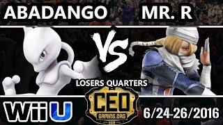 CEO 2016 Smash 4 - Abadango (Mewtwo) Vs. Mr. R (Sheik) SSB4 Losers Quarters - Smash Wii U