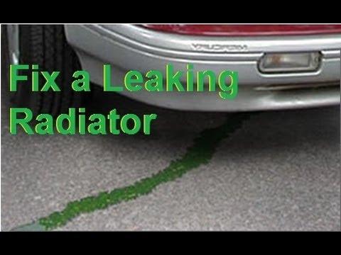 Repair a leaking plastic Car RADIATOR  easy FIX cracked or broken