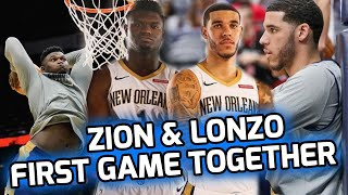 Zion Williamson's FIRST NBA GAME Was WILD! Lonzo & Zion The NEW LOB CITY!?