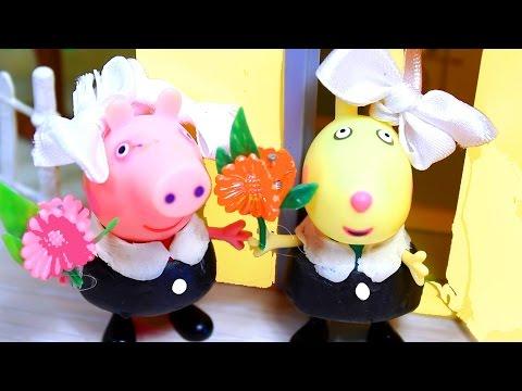 Свинка Пеппа, Сьюзи и Ребека идут  в школу