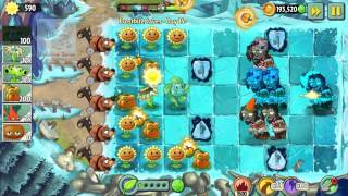 Plants vs Zombies 2: Frostbite Caves Day 14