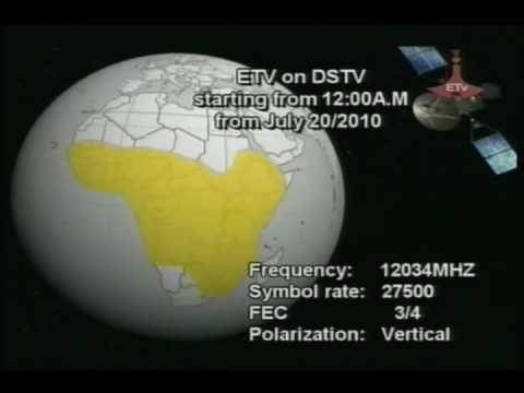 Ethiopian Television ETV Satellite Frequency