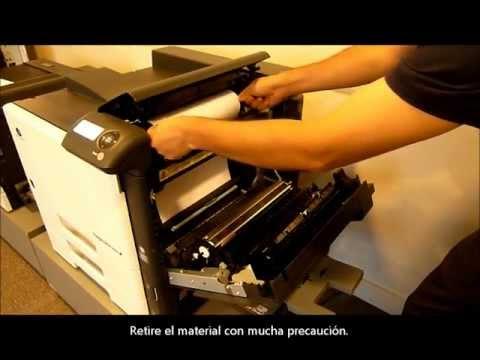 Magicolor 8650dn, Konica Minolta: Atasco de papel.