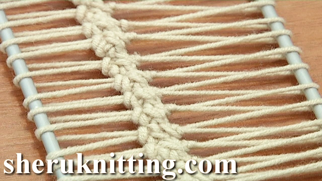 Crochet Stitch On Loom : Crochet On Hairpin Loom Tutorial 17 Hairpin Lace Strip - YouTube