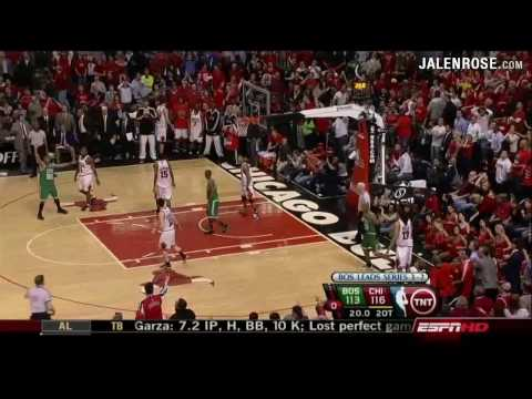 Bulls vs Celtics Game 6 3OT AMAZING!!! 2009 NBA Playoffs - Jalen Rose on ESPN Video