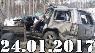 Подборка АВАРИИ и ДТП январь 24.01. 2017. Accidents Car Crash. #424