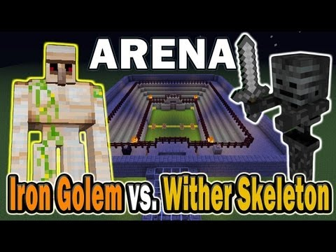 Minecraft Arena Battle Iron Golem vs. Wither Skeleton