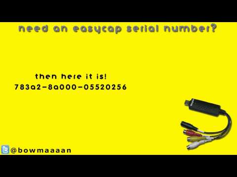 Easycap Serial Number - Ulead Video Studio