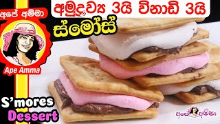 3 ingredient easy dessert S'mores by Apé Amma