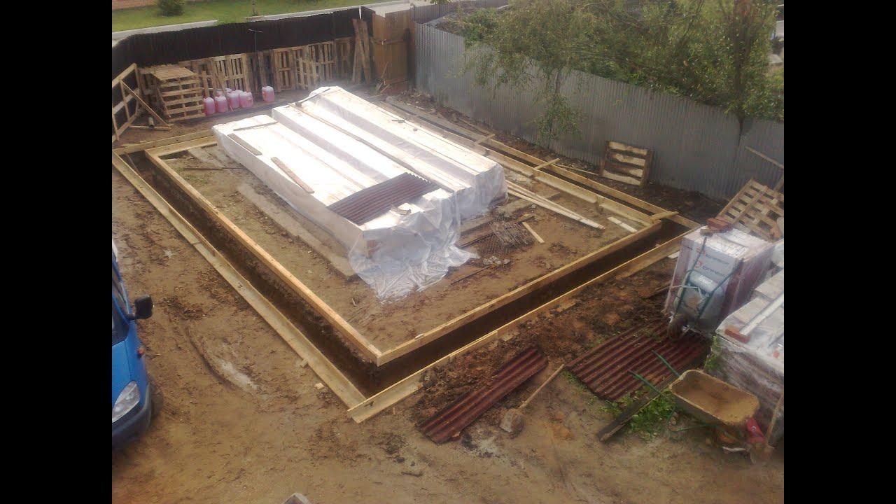 Ленточный фундамент под металлический гараж своими руками